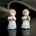 "Souvenir Polyresin lacquer ""Angel in a blue dress"" MIX 4х2х2 cm"