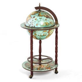 Глобус бар декоративный 'Карта путешествий по миру' 87х47х47 см Ош