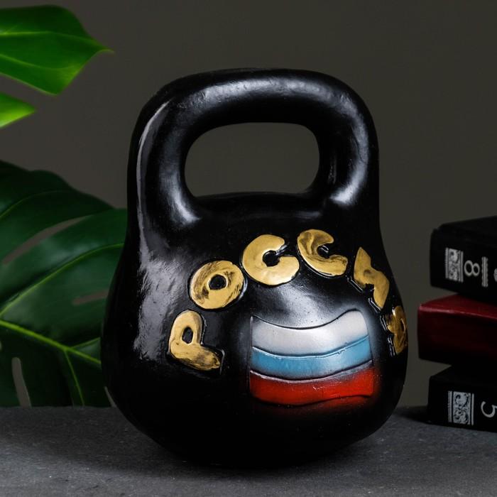 "Копилка ""Гиря Россия"" 17х17х20см малая"