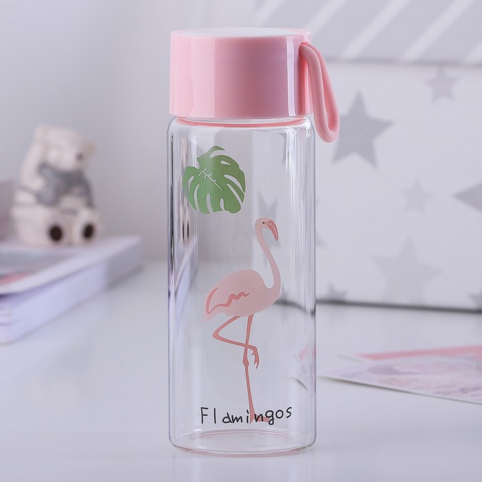 "Бутылка 350 мл ""Фламинго"", рисунок МИКС"