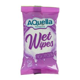 Влажные салфетки AQUELLA, освежающие, 15шт.