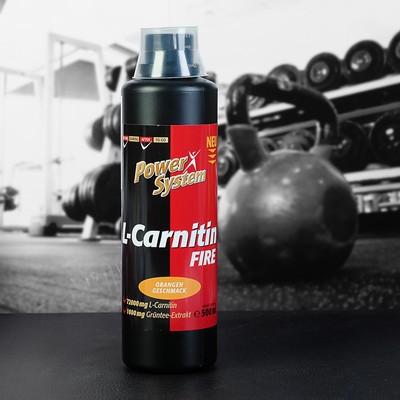L-карнитин Фаер 3600 (апельсин), БУТЫЛКА 500мл (72000 мг л-карн.) Пауэр Систем
