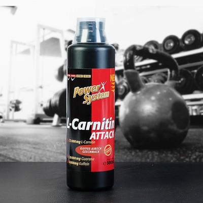 L-карнитин Аттак 3600 (кофейно-вишневый), БУТЫЛКА 500мл (72000 мг л-карн.) Пауэр Систем