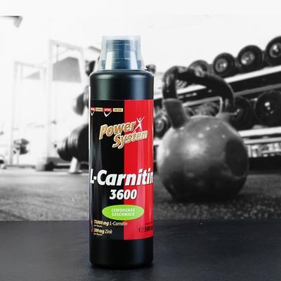 L-карнитин 3600 (лемонграсс), БУТЫЛКА 500мл (72000 мг л-карн. Пауэр Систем