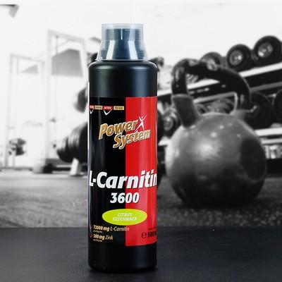 L-карнитин 3600 (цитрус), БУТЫЛКА 500 мл (72000 мг л-карн.) Пауэр Систем