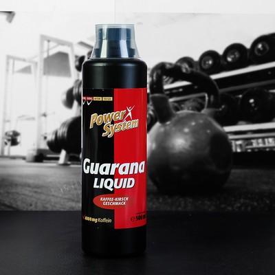 Гуарана Ликвид 4000 мг (кофейно-вишневый), БУТЫЛКА 500 мл Пауэр Систем