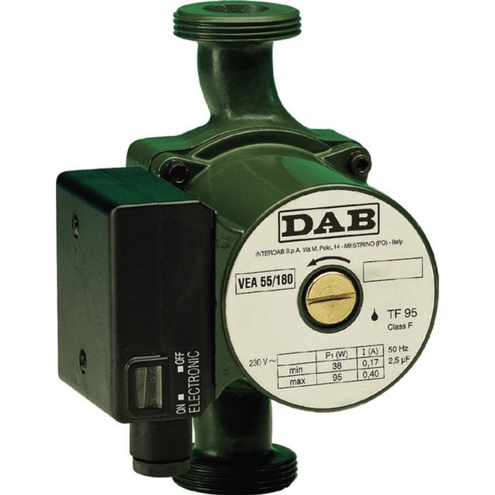 Насос циркуляционный DAB VA 55/180 60182171H, напор 4.7 м, 70 л/мин, 36-58-70 Вт - фото 14531