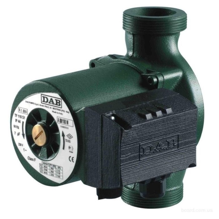 Насос циркуляционный DAB A 56/180 XM 505804041, напор 6.3 м, 200 л/мин, 224-271-294 Вт