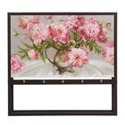 """Ключница открытая """"Розовые цветы"""" 35х25х3 см"""
