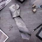 """Набор мужской """"Стиль"""" галстук 145*5см самовяз, запонки, турецкий огурец, цвет серый"""