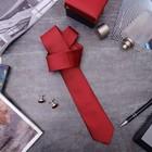 """Набор мужской """"Премьер"""" галстук 145*5см самовяз, запонки, цвет красный"""