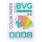 Бумага цветная А4, 250 листов, BVG пастель, 5 цветов, 80 г/м2, класс А