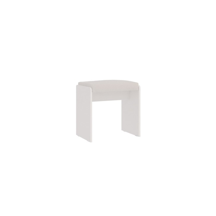 Пуф Гламур, 480х348х453, Белый глянец