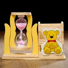 "Clocks ""Bear"" with a pencil, 13.5х13.5x10 cm, mix"
