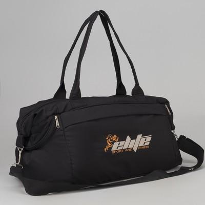 ef37355bac77 Сумка спортивная, отдел на молнии, наружный карман, длинный ремень, цвет  чёрный. Система скидок