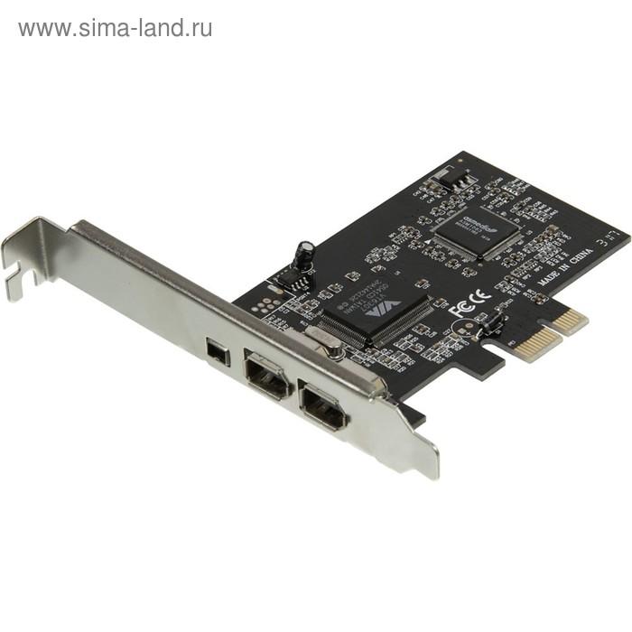Контроллер PCI-E VIA6307 1xIEEE1394(4p) 2xIEEE1394(6p) Ret