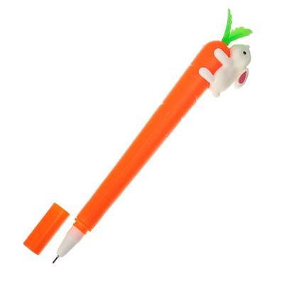 Ручка гелевая-прикол «Морковь с зайкой»