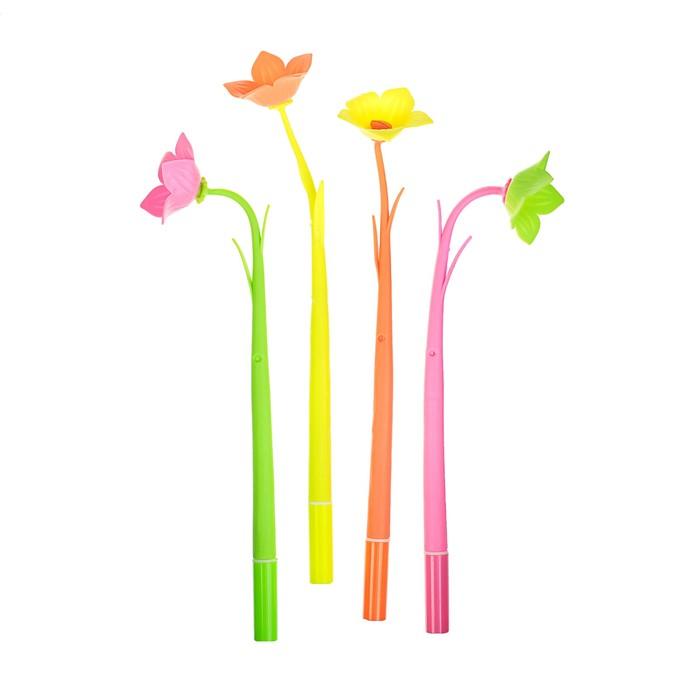 Ручка шариковая-прикол, «Цветы», МИКС