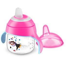 Чашка-поильник (200 мл, 6мес+) Philips Avent для детей до 3-х лет, розовая