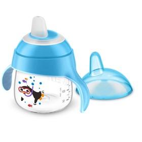 Чашка-поильник (200 мл, 6мес+) Philips Avent для детей до 3-х лет, голубая