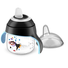 Чашка-поильник (200 мл, 6мес+)  Philips Avent для детей до 3-х лет, чёрная