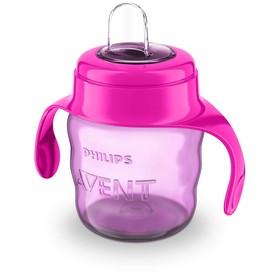 Чашка-поильник, 200 мл., от 6 мес., серия Comfort, цвет розовый