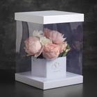 Коробка подарочная, 20 х 20 х 28 см - фото 8877819