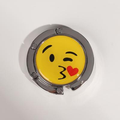"Hook for handbag and umbrella ""Smile-kiss"", d = 4.5 cm"