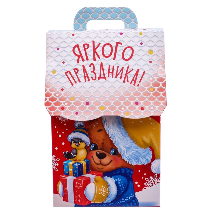 Складная коробка «Яркого праздника!», 12 × 12 × 19 см