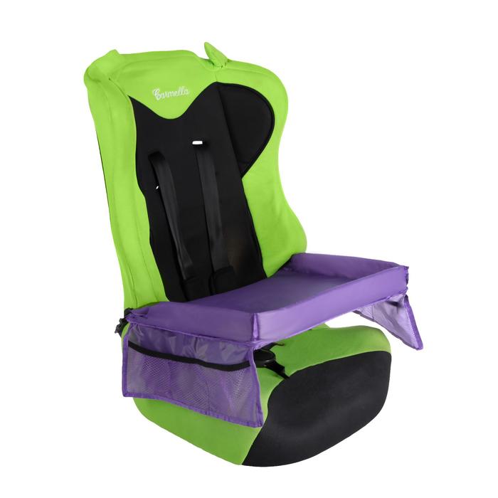 Столик-органайзер для детского автокресла, фиолетовый