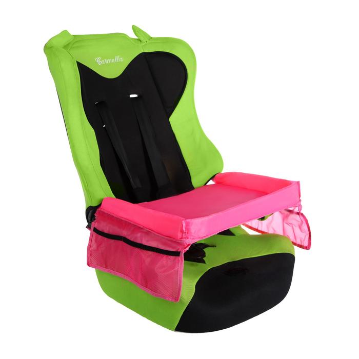 Столик-органайзер для детского автокресла, розовый