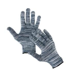 Перчатки, х/б, вязка 7 класс, 4 нити, размер 9, без покрытия, серые Ош
