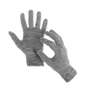 Перчатки, х/б, вязка 7 класс, 3 нити, размер 9, без покрытия, серые Ош
