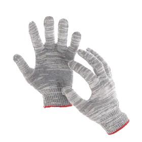 Перчатки, х/б, вязка 10 класс, 5 нитей, размер 9, без покрытия, серые Ош