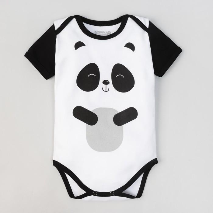 """Боди детское """"Панда"""", рост 62-68 см, 3-6 мес (22 р-р), 100% хл, интерлок"""