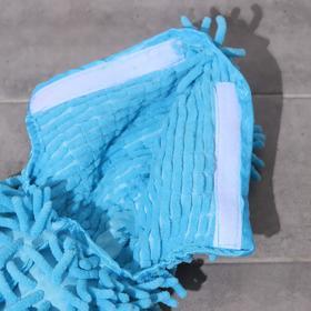 Насадка для плоской двусторонней швабры, 40×10 см, микрофибра букли, цвет синий - фото 4647756