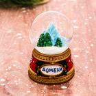 "Сувенир снежный шар ""Снежные горы"", 5 х 6,5 см"
