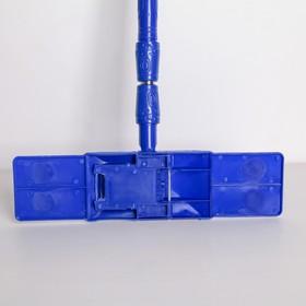 Швабра плоская Доляна «Ocean», телескопическая ручка 78-117 см, насадка микрофибра букли 42×13 см, цвет МИКС - фото 4647298