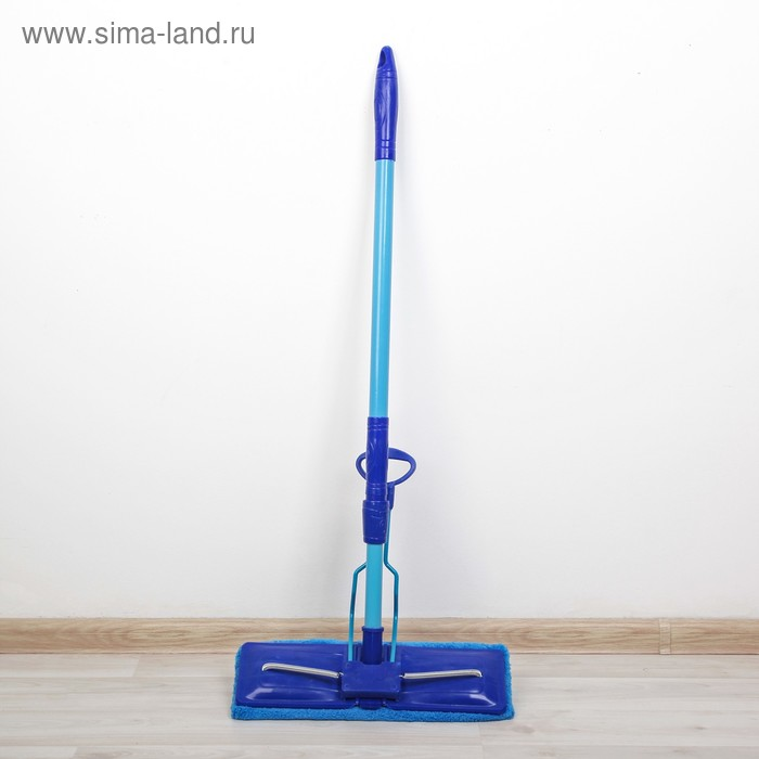 Flat MOP wringer with folding, telescopic painted handle 80-117 cm