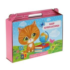 Коробка «Набор первоклассника. Котёнок» для девочек, без наполнения Ош