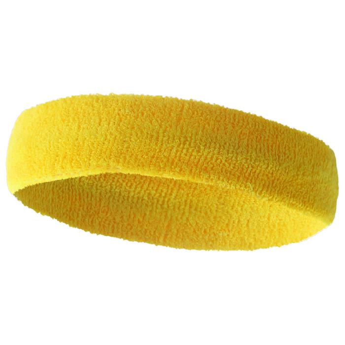 Спортивная повязка на голову 17х5,5 см, цвет желтый