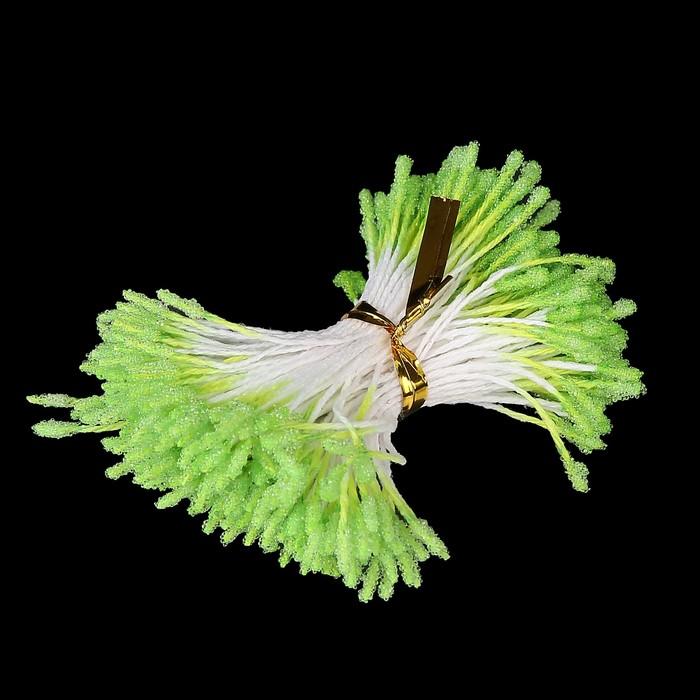 """Тычинки для искусственных цветов """"Пушистые светло-зелёные"""" длина 6 см (набор 170 шт) - фото 245819631"""