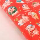 Бумага упаковочная глянцевая «Забавные свинки», 70 х 100 см