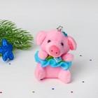 """Мягкая игрушка-подвеска """"Хрюша с цветком"""" в юбочке, цвета микс"""