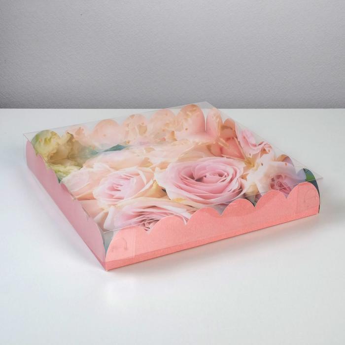 Коробка подарочная с PVC крышкой «Прекрасные грезы», 35 × 35 × 6 см - фото 308984983