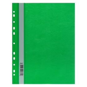 Папка-скоросшиватель А4, 140/180 мкм, зелёная, с перфорацией