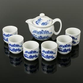 """Набор для чайной церемонии """"Горы"""", 7 предметов: чайник 300 мл, 6 чашек 100 мл"""
