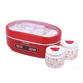 Йогуртница Oursson FE1405D/RD, 10 ёмкостей, таймер, 4 режима, красная