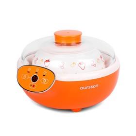 Йогуртница Oursson FE2305D/OR, 20 Вт, 1.5 л, 1 ёмкость, таймер, 3 режима, оранжевая