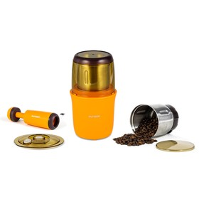 Кофемолка Oursson OG2075/OR, 250 Вт, 75 г, градуировка чаши, оранжевая